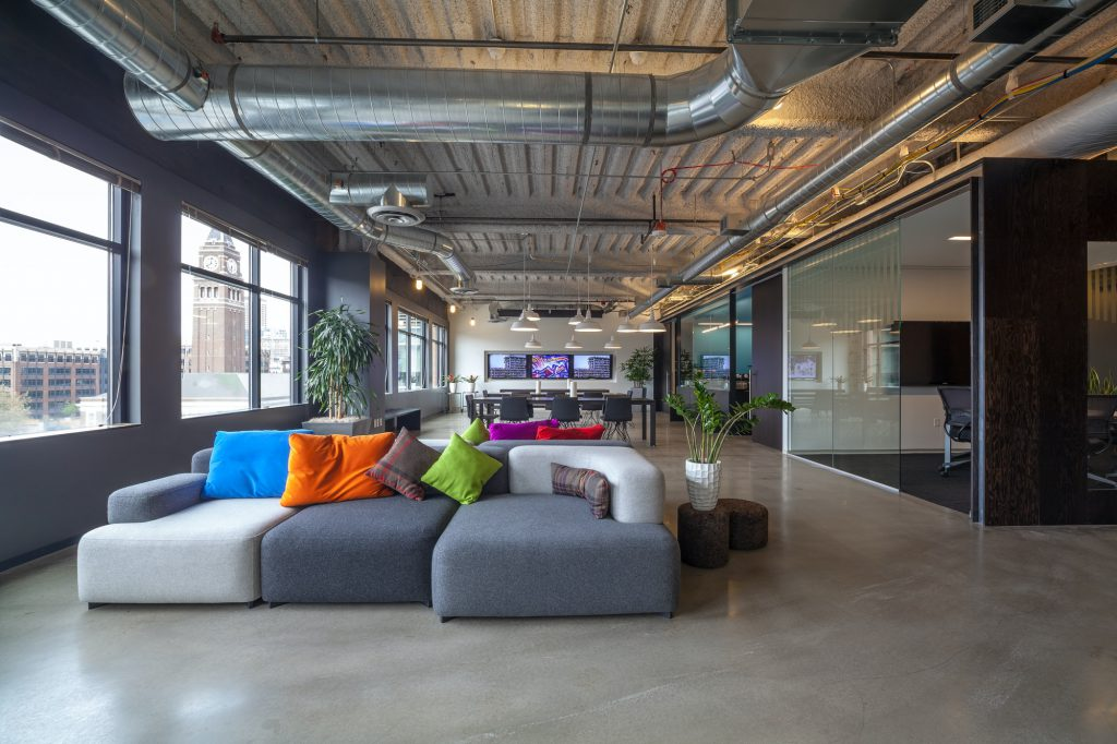 Sofas in office seating area